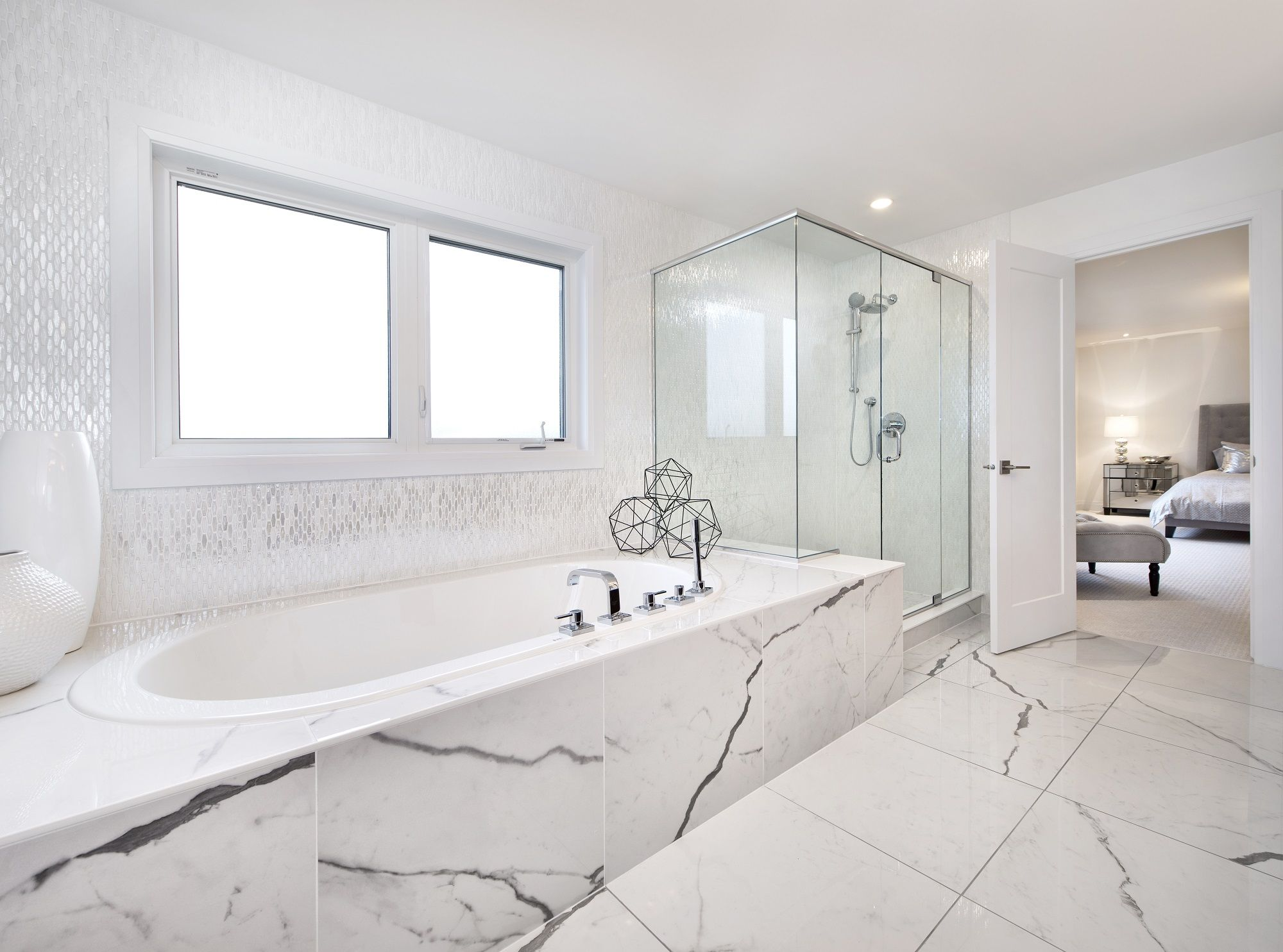 This Is The Spectacular Master Ensuite Bathroom In Our Cambridge Model Home In Findlay Creek Model Homes New Home Builders Home Builders