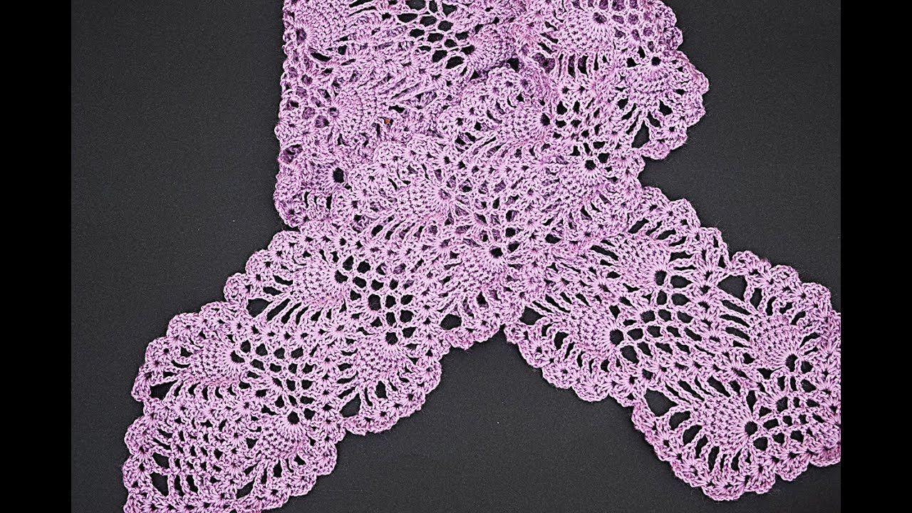 Bufanda Punto Piñas Tutorial Pasoapaso Cachecol De Crochet Blusas De Crochê Motivo De Crochê