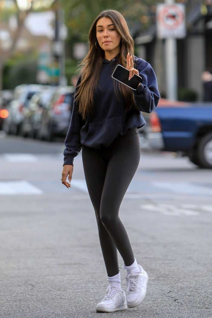 Photo of Madison Beer in Black Leggings in West Hollywood