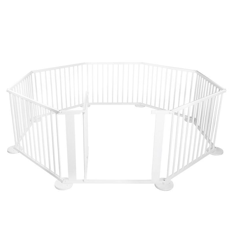 Baby Wood Octagonal 8 Panel Playpen W Gate White Baby Jaden