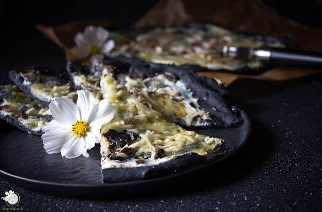 Pizza nera e bianca