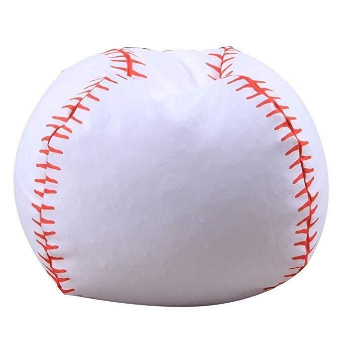 Fabulous Kids Bean Bags Chairs Baseball Shaped Child Stuffed Animal Alphanode Cool Chair Designs And Ideas Alphanodeonline