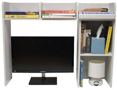 Classic Desk Bookshelf White Color Home