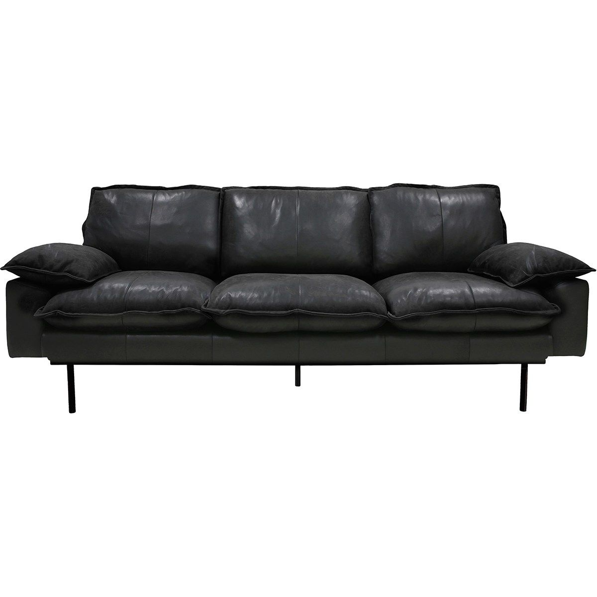 Retro Leather 3 Seater Sofa Retro Sofa Retro Couch Sofa