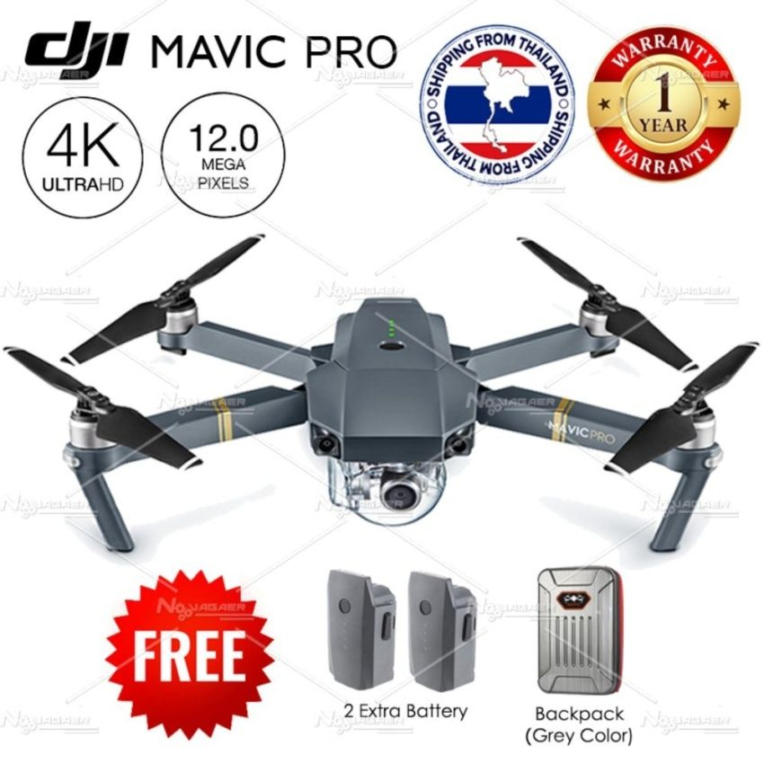 DJI Mavic Pro Free 2 Extra Battery BackPack Bird Size Smart Drone