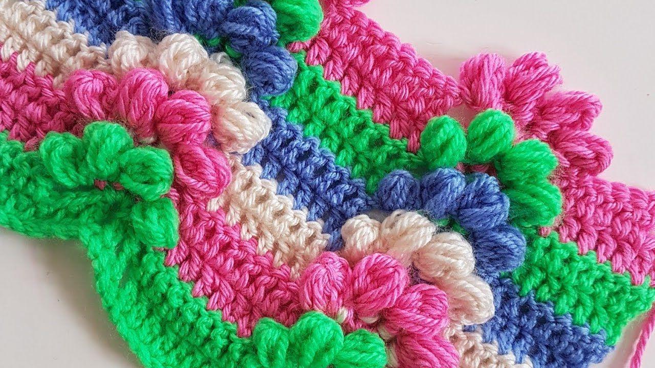 Ponponlu Fstkl Battaniye Lif Puff Stitch Blanket Bebek