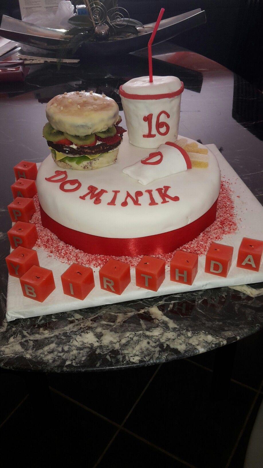 Fast Food Torte 16 Geburtstag Meine Torten Pinterest