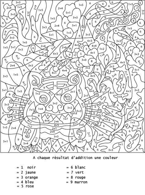 Coloriage num rot et addition additionner pour colorier - Coloriage magique disney ...