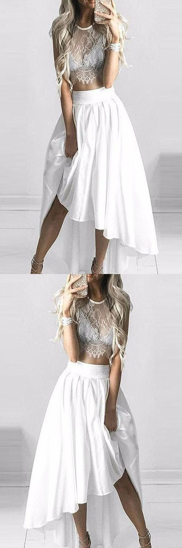 Discount outstanding prom dresses high low prom dresses two piece