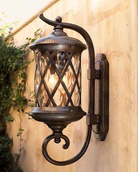 Elk Lighting Three Light Hazlenut Bronze Designer Water Glass Wall Lantern Hazlenut Bronze 42032 3 From Barrington Gate Collection Outdoor Lantern Lighting Outdoor Lanterns Gate Lights