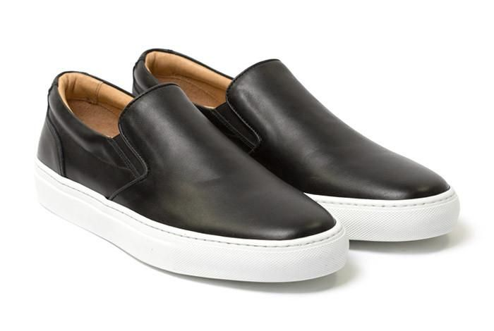 The Wooster Leather - Nero | Mens slip