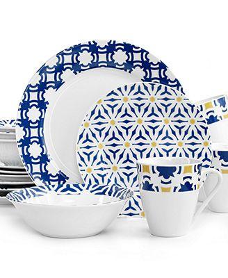 Oneida Blue Capella 16-Pc. Set Service for 4 - Dinnerware - Dining \u0026 Entertaining - Macy\u0027s  sc 1 st  Pinterest & Oneida Blue Capella 16-Piece Set   mi casa es mi casa   Pinterest ...