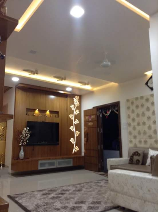 Lcd Panel Tv Unit Design For Living Drawing Room Bedroom: Wall Tv Unit Design, Bedroom Tv Unit