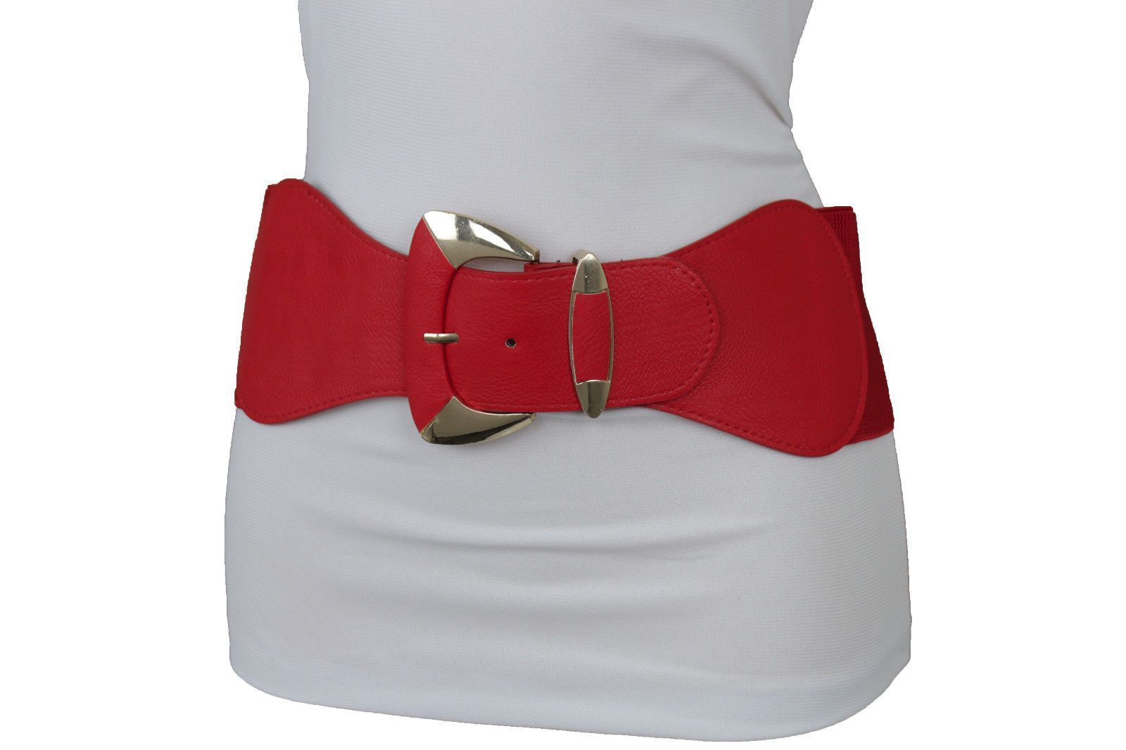Women Belt Silver Metal Big Hot Buckle Hip High Waist Bling Fashion Size M L XL