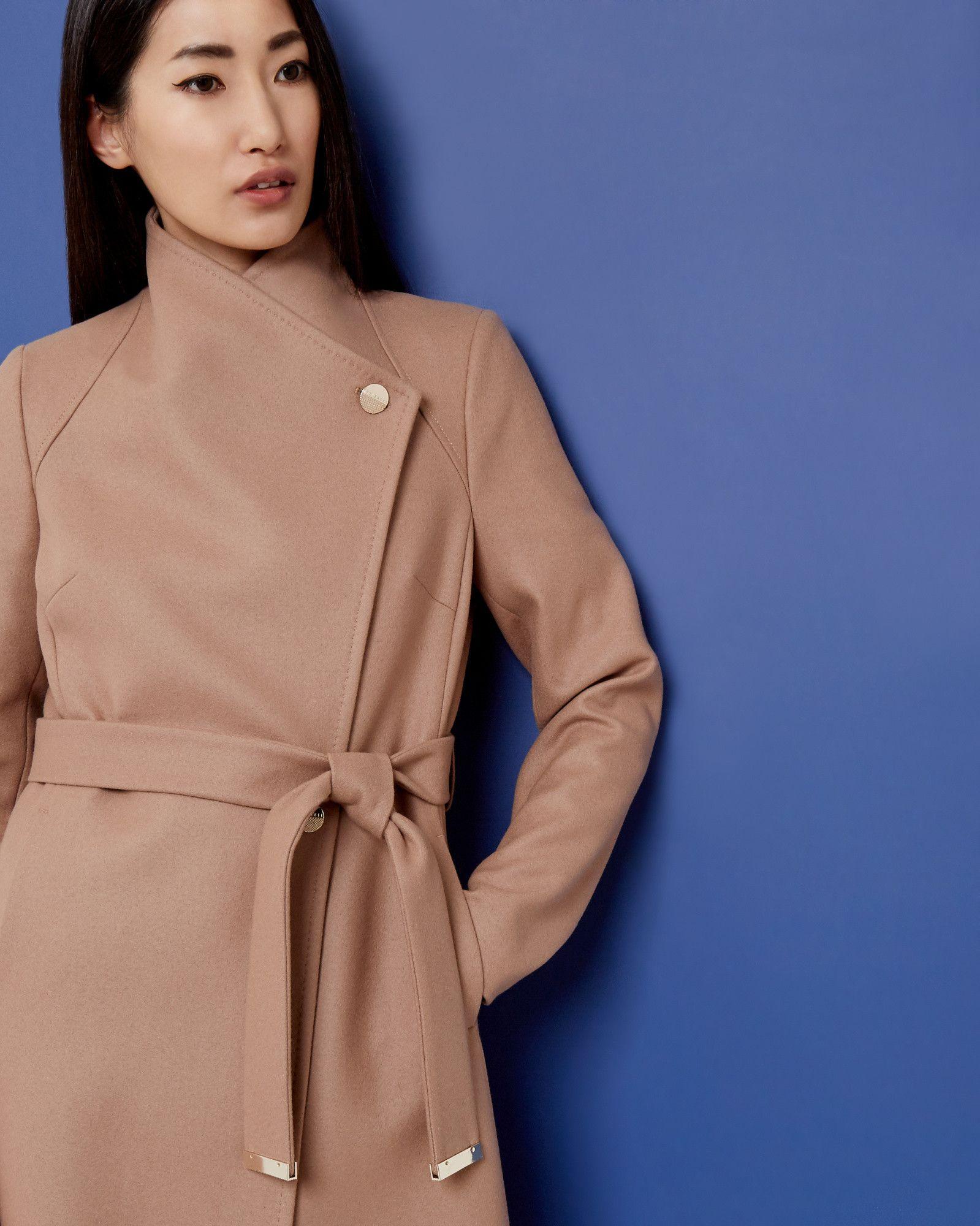 0ca0ee5ac Women s Ted Baker London Wool Blend Long Wrap Coat
