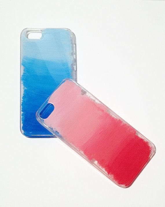 Diy Painted Ombre Iphone 5 Case Diy Phone Case Homemade Phone Cases Diy Phone Case Design
