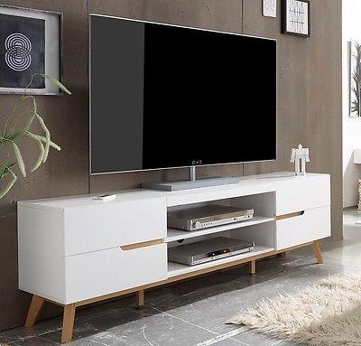 Fernsehschrank weiß  Lowboard unterschrank fernsehschrank schubkasten board tv bank ...