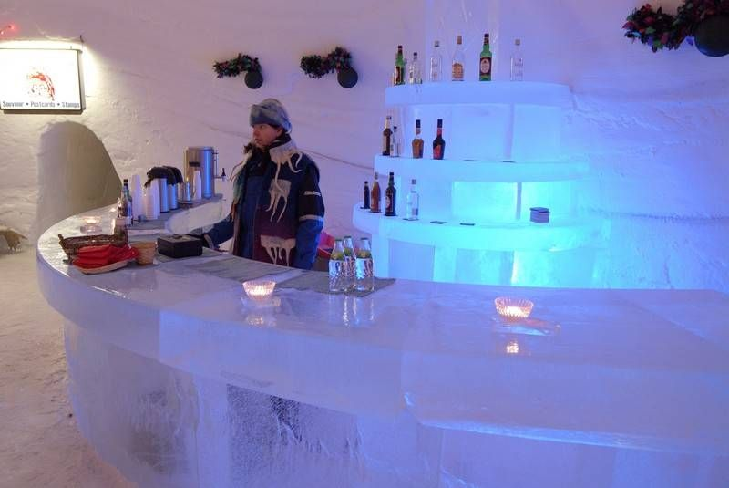 The Ice Bar Snowvillage Finland In Lainio Snow Hotels