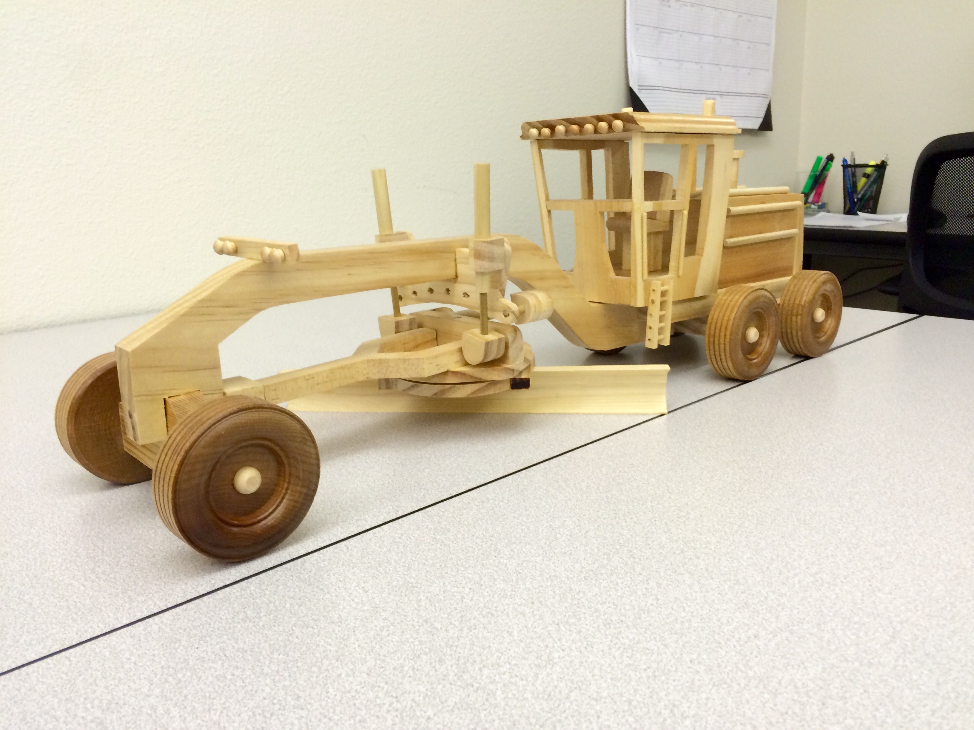 hand made road grader, $350. | jeff thomas | wood toys
