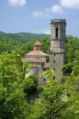 Rupit pueblo medieval en Cataluña,