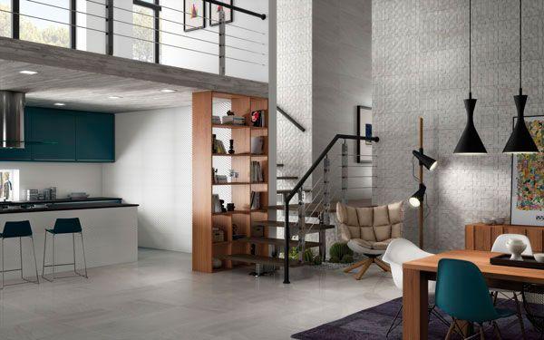 Cocinas Loft | Coleccion Armony R90 Relieve Squared Estilos Ceramica