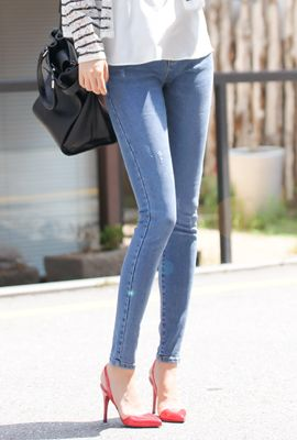 Weathered Ultra Skinny Jeans from en.45seven.com // $36.40