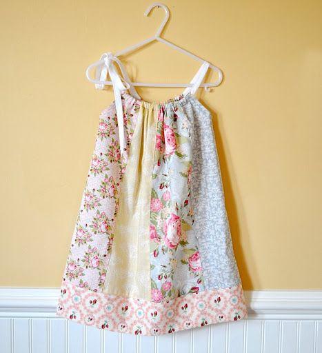 Fat Quarter Pillowcase dress.  I like this tutorial because it has arm holes, but no bias tape.