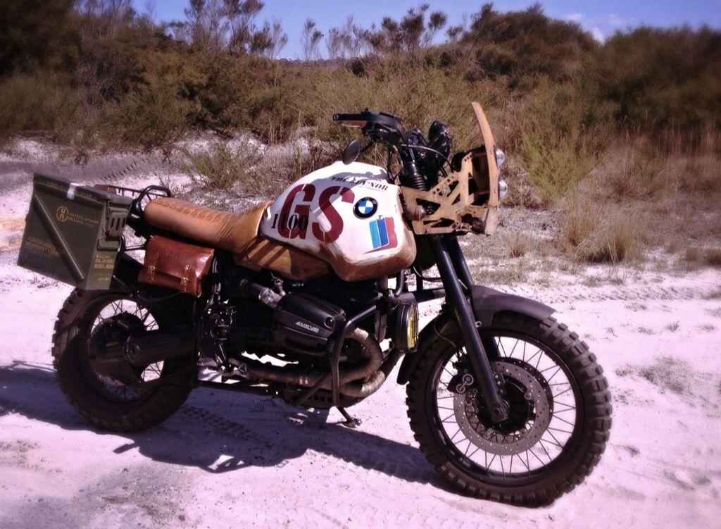 bmw r1100 gs custom scrambler / desert sled build  big dumb