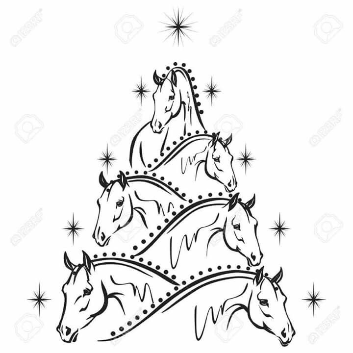 Horse christmas tree christmas pinterest christmas for Christmas tree made out of horseshoes