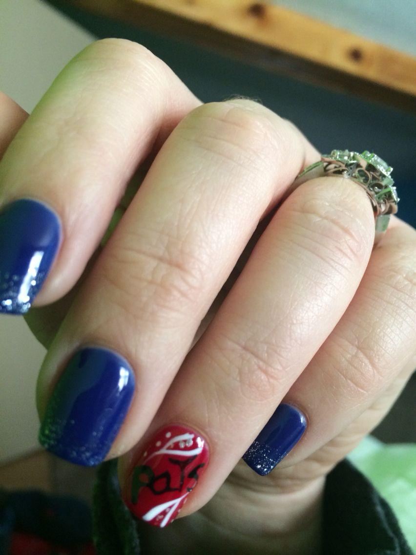 New England Patriots Nails ❤ | Makeup | Pinterest | Makeup