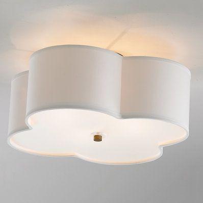 Scalloped shade semi flush ceiling light 4 light ceiling lights scalloped shade semi flush ceiling light 4 light aloadofball Images