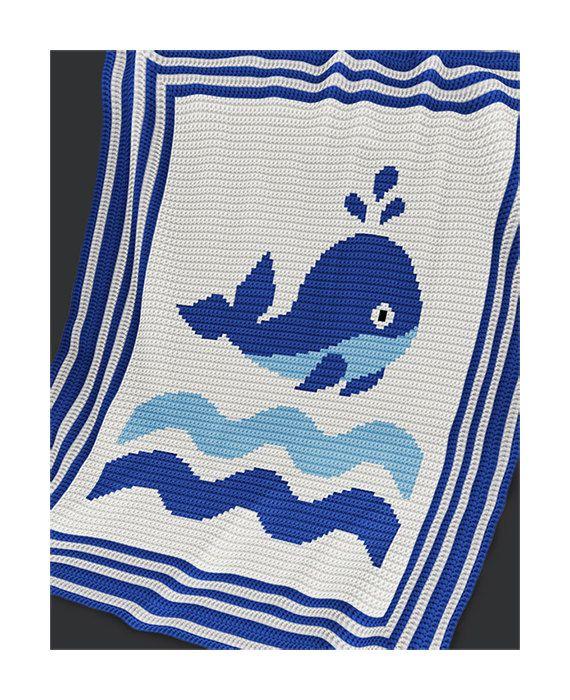CROCHET Pattern - Baby Blanket Pattern - Whale - Crochet Graph ...