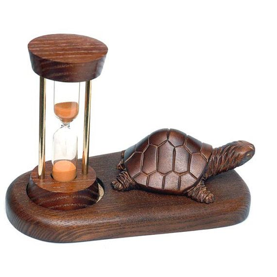 Wooden Hourglass TURTLE. Wooden Sand Clock  от Tobaccopipesshop