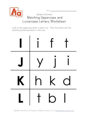 uppercase and lowercase letters worksheet i l printable worksheet preschool letter. Black Bedroom Furniture Sets. Home Design Ideas