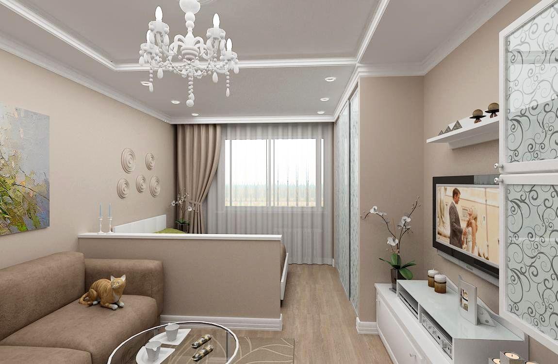 гостиная спальня 17 квадратов дизайн фото 2