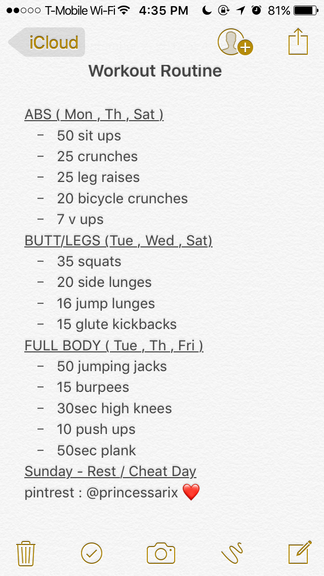 Pin by Madison on •Selfcare• | At home workout plan, Workout