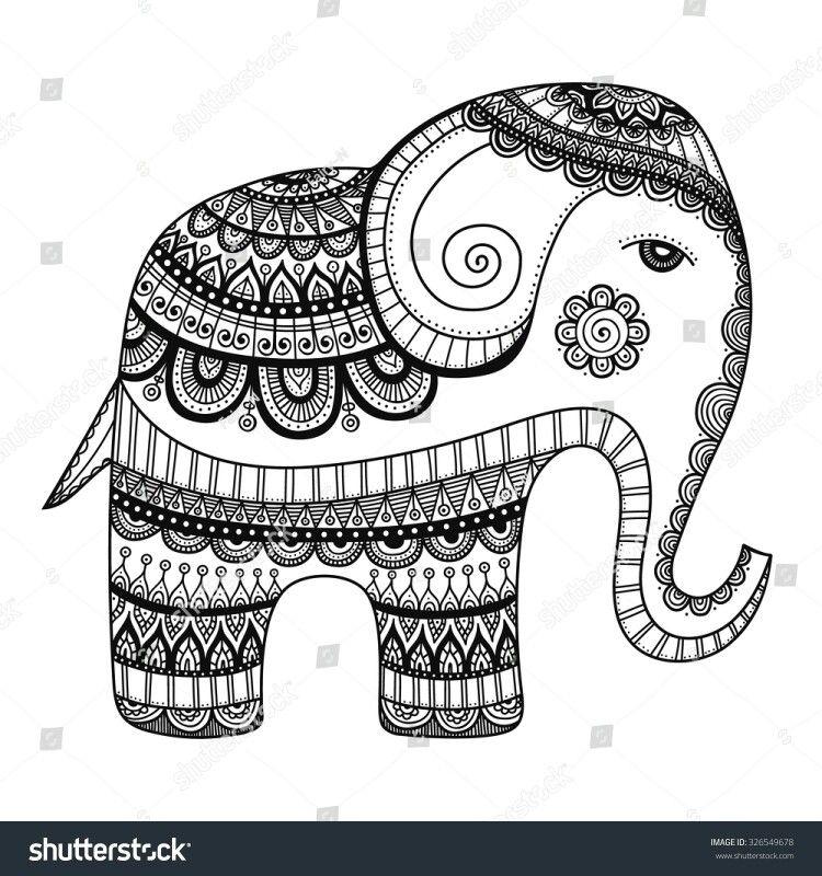 Pin de Elisabeth Quisenberry en Coloring: Elephants | Pinterest