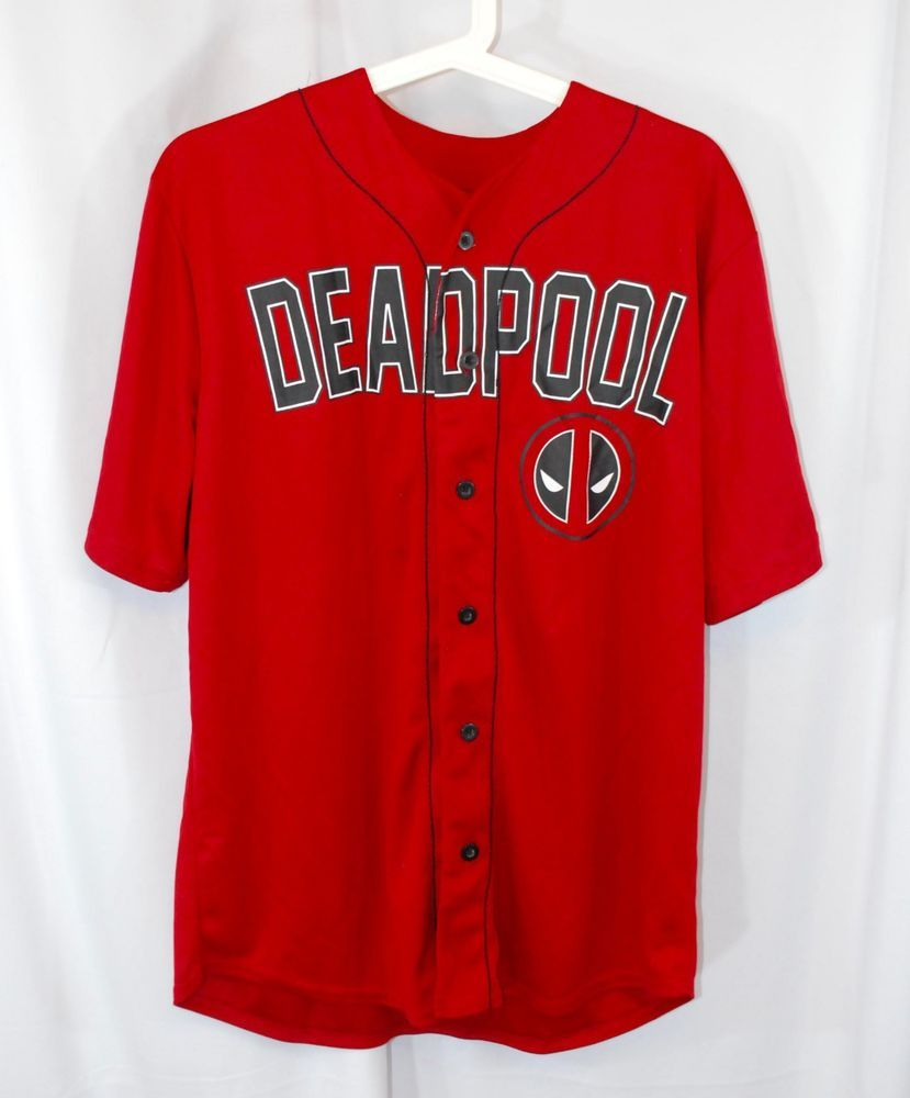 e52e7e9a Really cool Deadpool themed baseball jersey. Front says Deadpool with the  back having the word tacos displayed. Get it now! | eBay!