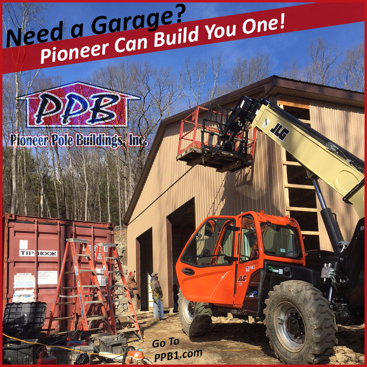 Need a Garage? Pioneer Can Build You One! http//www