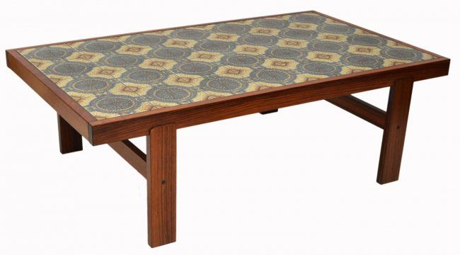 Danish Mid Century Modern Tile Top Coffee Table On Liveauctioneers