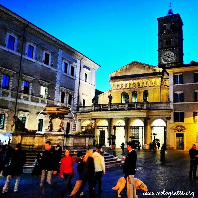 Piazza di Santa Maria in Trastevere #travels #Rome #Roma #travel #viaggi