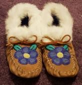 Moccasins I made for my Grandma Walker. ~Beaded by Heather Simmons, Alaska