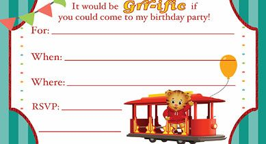 Daniel Tiger Birthday Party Supplies Printables PBS Parents