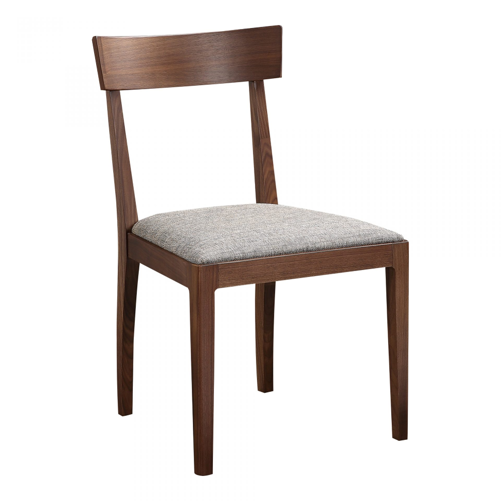 Leone Dining Chair Walnut M2 Products Moe S Wholesale Walnut Dining Chair Fabric Dining Chairs Dining Chairs