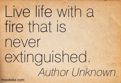 Life Quotes By Authors Interesting Live Life With A Fire That Is Never Extinguishedauthor Unknown