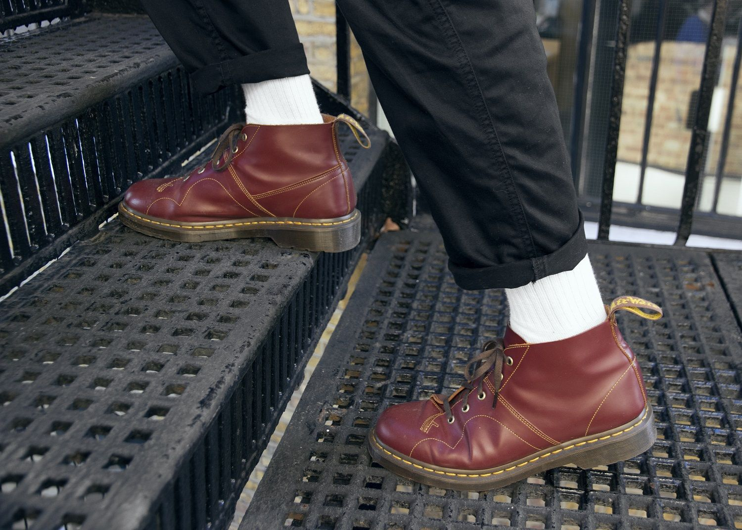 Dr martens church leather monkey boots | Doc martens, Types