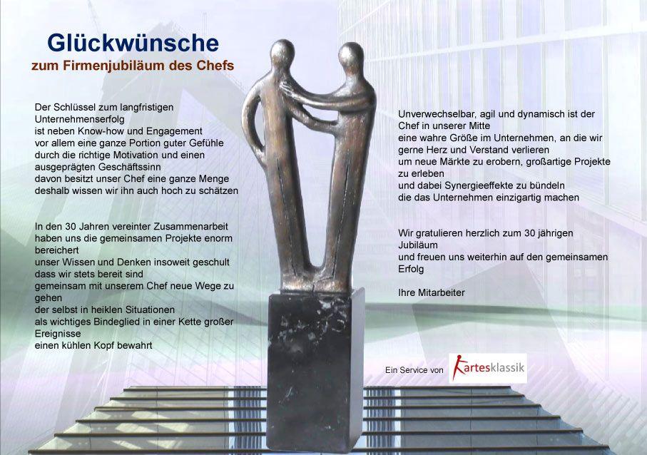 Gluckwunsche Zum Firmenjubilaum Und Spruche Fur Den Chef Gluckwunsche Zum Firmenjubilaum Gratulation Gluckwunsche