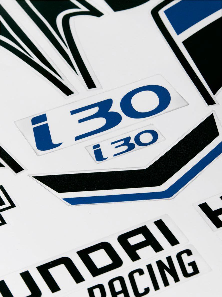 Hyundai i30 racing sticker poster on behance hyundai