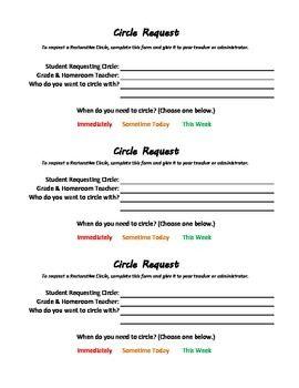 Restorative Discipline Circle Request Restorative Circles Restorative Justice School Social Work