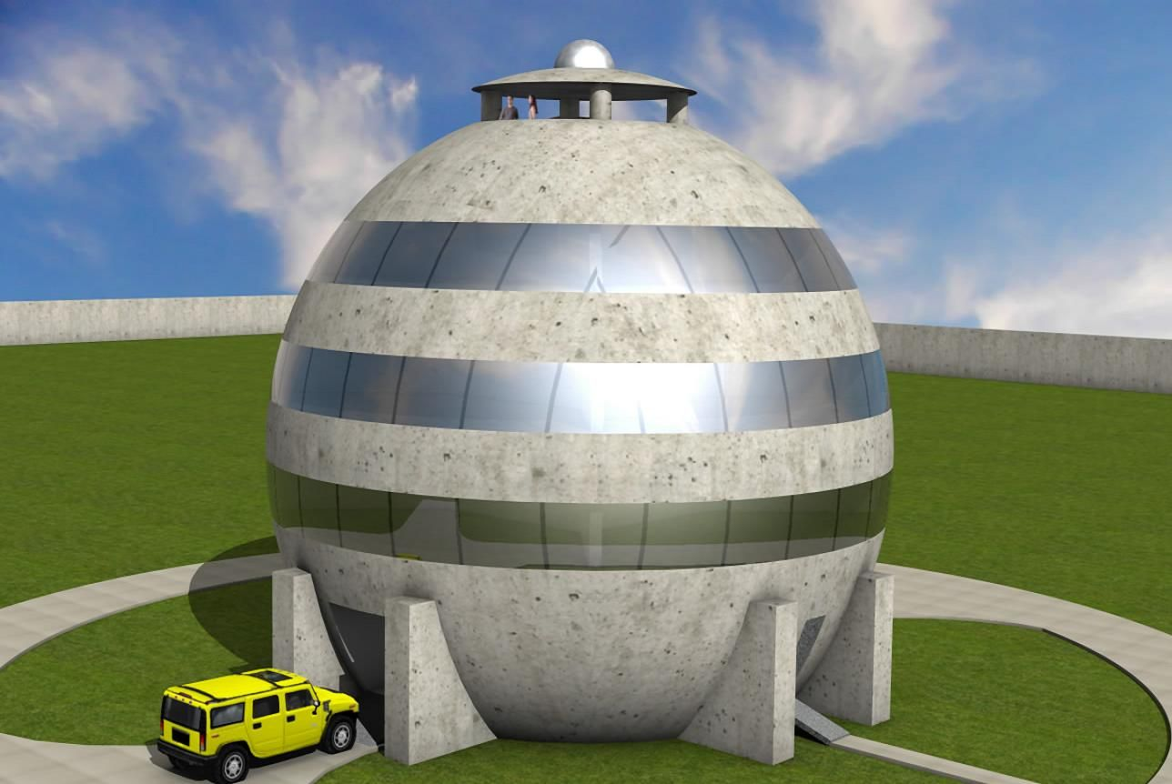 Sphere house korvelo the anti weather intruders or for Hurricane proof home plans